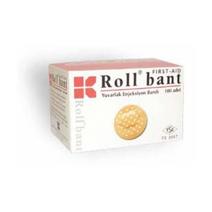 Roll bant First Aıd Yuvarlak  Enjeksiyon Bandı 100 adet