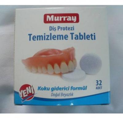 MURRAY Diş Protezi Temizleme Tableti 32 Adet